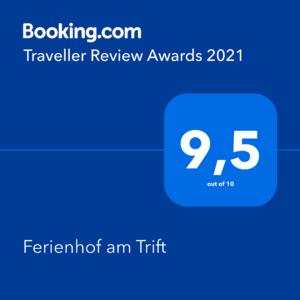 Travel Award 2021 booking.com